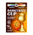 basketball sport champion cup flyer poster vector image vector image