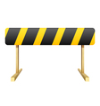 Black and yellow stripe vector image vector image