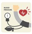 Blood pressure measurement poster - hand
