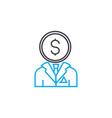 businessman thin line stroke icon vector image vector image