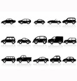 car silhouette icons vector image