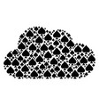 cloud collage of peaks suit icons vector image vector image
