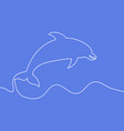 continuous line dolphin vector image