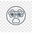 cyclops concept linear icon isolated on vector image