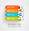 document info banner vector image vector image