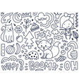 doodles cute isolated elements vector image vector image