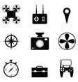 drone icon set vector image