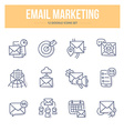 E-Mail Marketing Doodle Icons vector image vector image