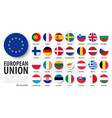 european union eu and membership flags flat vector image