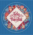 feliz navidad xmas card on spanish language vector image vector image