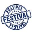 festival blue grunge round vintage rubber stamp vector image vector image