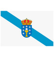 flag of spain autonomous community galicia vector image vector image