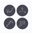 Football golf and baseball icons vector image vector image