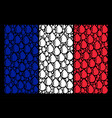 france flag pattern of drop icons vector image