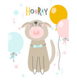 funny cat yells hooray perfect vector image