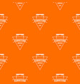 furniture pattern orange vector image vector image