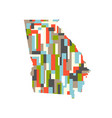 georgia state abstract rectangular color pattern vector image vector image