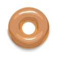 Glazed donut icon cartoon style vector image vector image