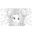 graphics cute girl wears sweets on her vector image