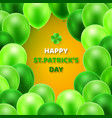 greeting card happy st patrics day vector image