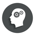 Head with gears sign icon Male human head vector image