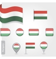 Hungary icon set of flags vector image vector image