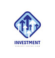 investment logo template design business invest vector image vector image