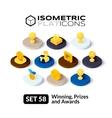 Isometric flat icons set 58 vector image vector image