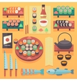 Japanese food and cuisine vector image