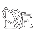 Love design with heart vector image vector image