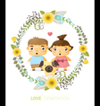 Love generation greeting card 1 vector image