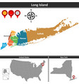 map of long island vector image vector image