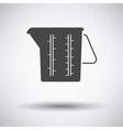 Measure glass icon vector image vector image