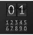 mechanical timetable numbers vector image