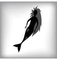 Mermaid Silhouette vector image