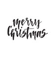 merry christmas hand drawn lettering quote vector image