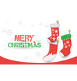 merry christmas happy new year christmas socks vector image vector image