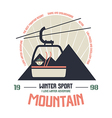 Mountain winter sport emblem vector image vector image