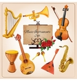 Music instruments color vector image vector image