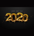 new year 2020 gold foil balloon number card vector image