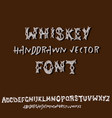ornamental whiskey font hand drawn letters and vector image vector image