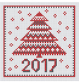 peasant folk rustic motif of christmass tree cross vector image vector image