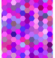 Pink colorful hexagon mosaic background design vector image vector image