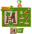 puzzle letters of the alphabet m vector image