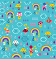 rainy day seamless pattern vector image