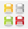 realistic design element printer vector image vector image