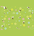 seamless baby pattern with bees vector image