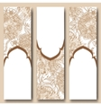 set floral banners templates in oriental style vector image