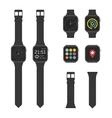 Set of smart watches vector image vector image