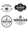set sea and nautical typography badges and vector image vector image